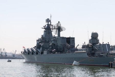 bazalt: Russia, Vladivostok. 05.07.2013 Russian cruiser Varyag in dock.