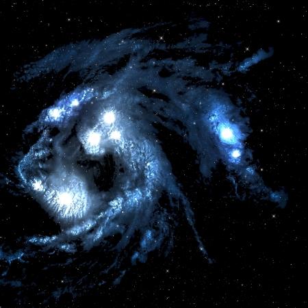 few: Space nebula with few bright star.