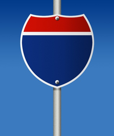 oppertunity: Empty road sign on blue background   Stock Photo