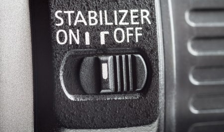 stabilization: Lens stabilization switch, close-up. Switched off.