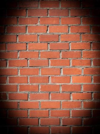 Brick Wall with spotlight  photo