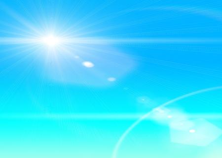 Sunlight over blue gradient background   photo