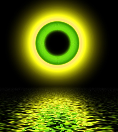 Abstract yellow-green circle, background Stock Photo - 20735746