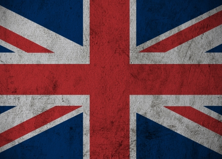 Great Britain Flag on grunge cement background  photo