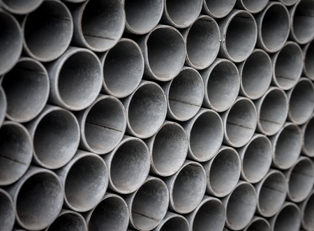 aluminum rod:   Steel pipes, background