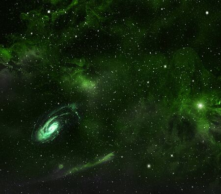 looming:   Space background with nebula and galaxy   Stock Photo
