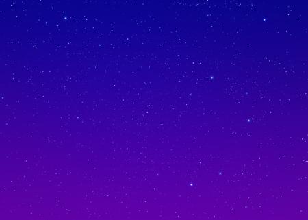 estrellas moradas: Cielo nocturno con las estrellas Foto de archivo