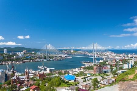 Vladivostok cityscape daylight view