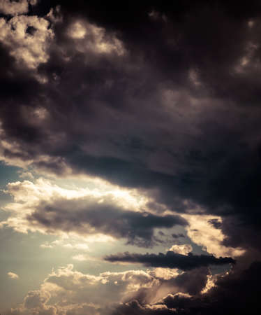 judgement day: Surreal, dark cloudy sky  Color toned image