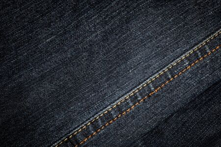 Denim texture, background  Selective focus with shallow depth of field  photo