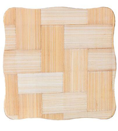 Empty wooden plank on white background  photo