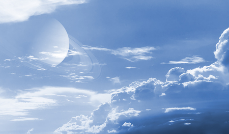 Sky with cloud and planet  Elements of this image furnished by NASA Stock Photo - 23239503
