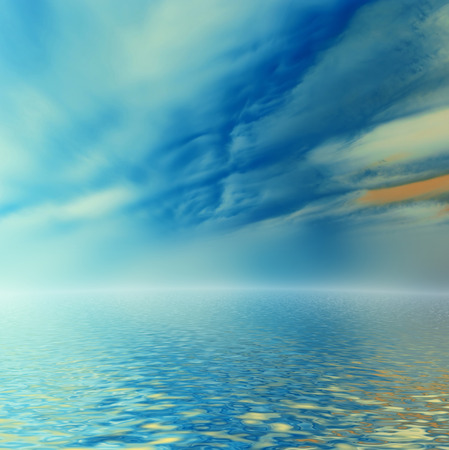 liquefy:  Surreal clouds reflected in water