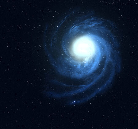 Spiral galaxy in deep space  photo