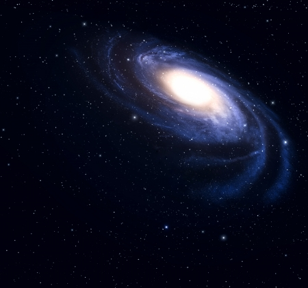andromeda:   Spiral galaxy in deep space