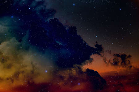 looming:   Space background with nebula