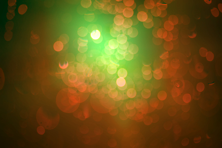 Abstract circular red-green bokeh background   photo