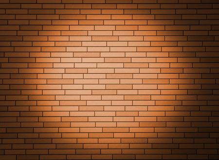 Orange brick wall with spotlight   photo