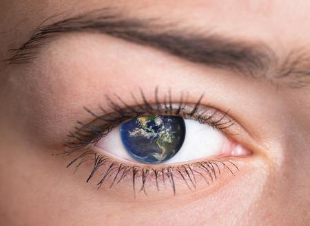 Human Eye with the earth inside photo
