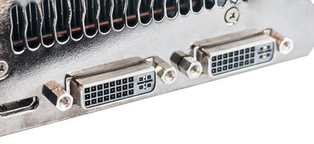 Computer graphics card ports photo