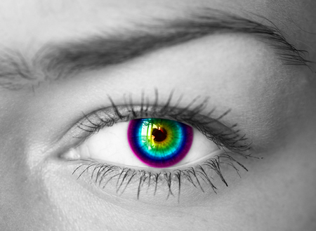 Colorful eye close-up   photo