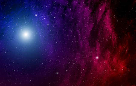 looming: Space background with nebula and stars  Stock Photo