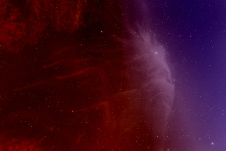 looming: Space with nebula and stars