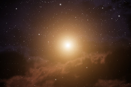 Space background with nebula and bright star Stok Fotoğraf - 28300361