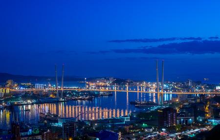 Vladivostok cityscape night view