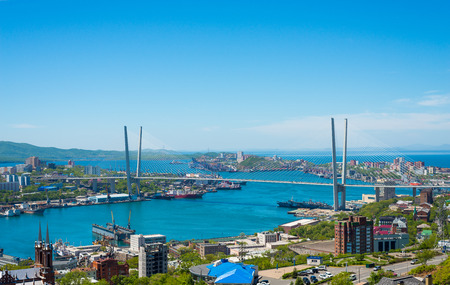 High resolution photo of Vladivostok cityscape, daylight view