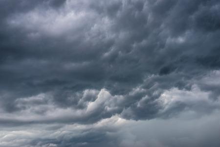 stratus: Dark rainy clouds. Stock Photo