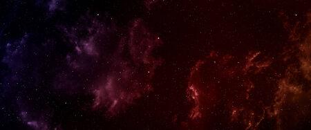 Space panorama with nebula and stars.