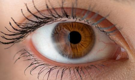 人間の目の反射。マクロは、フィールドの浅い深さで撮影。 写真素材