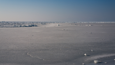 crevasse: Frozen sea view on sunny day.