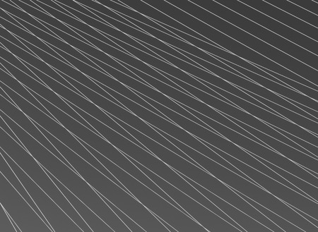 Steel cables over sky background. Abstract black and white pattern.
