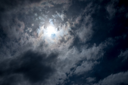 hdri: Dramatic sky with heavy clouds and sun