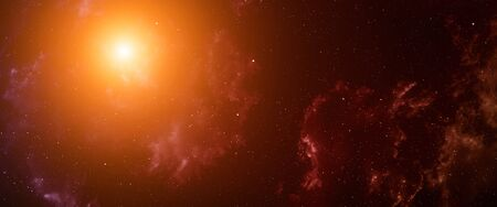dense: Space background with nebula and stars. Stock Photo