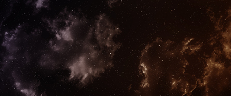 nebula: Space background with nebula and stars. Stock Photo