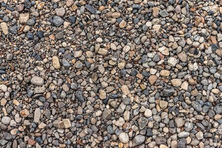 sprigs: Pebbles background with dry leafs and sprigs. Stock Photo