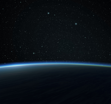 lightyear: Blue planet and stars. Space background.