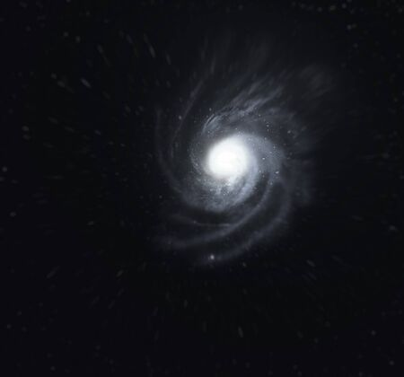 accretion: Falling into a black hole. Abstract space background.