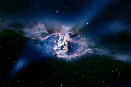 Space background with nebula and stars. Imagens