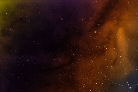 looming: Space background with nebula and stars. Stock Photo