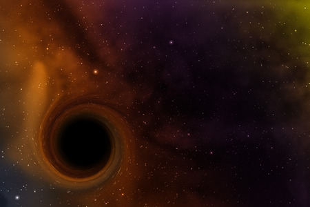 Black hole in space. Abstract background.