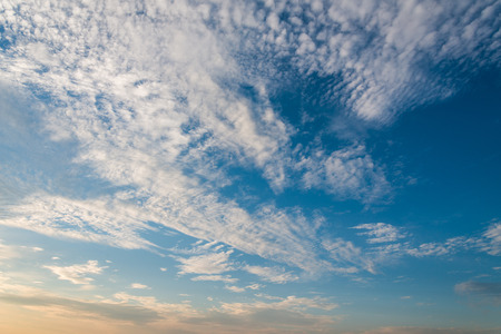 Dramatic sky with white clouds. Stock Photo