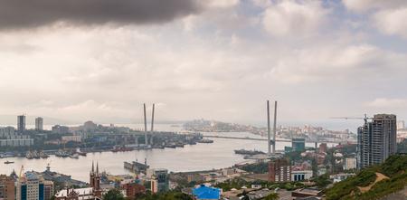 daylight: Vladivostok cityscape. Daylight view.