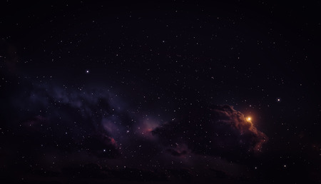 lightyear: Space background with nebula and stars. Stock Photo