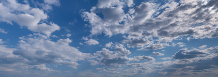 hires: Blue sky with clouds. Hi-res panorama.