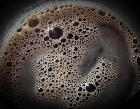 crema: Black coffee, crema. Food background. Stock Photo