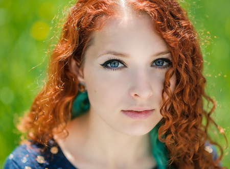Close up redhead